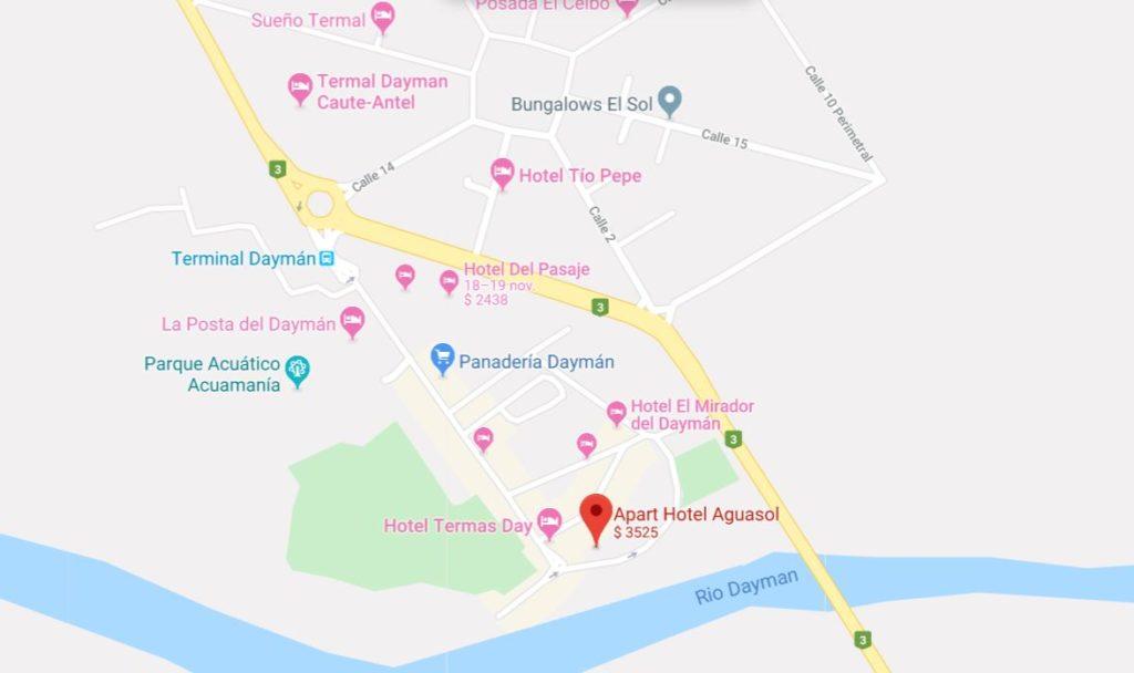 apart Hotel Aguasol mapa